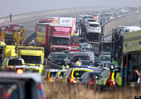 100 Vehicle Pile-Up Amid Misty Weather On New Sheppey Crossing