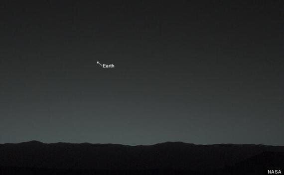 NASA Curiosity Rover Takes Its First Ever Picture Of Earth From Surface Of