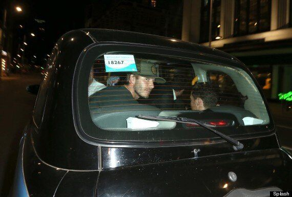 David Beckham Rides Home In A Black Cab After Night Of Partying