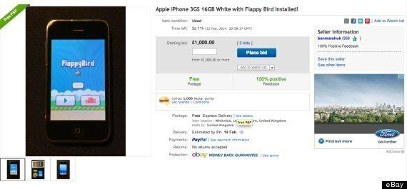 Ebay Prices For Phones With Flappy Bird Installed Reach 1 000 But Is Anyone Buying Huffpost Uk