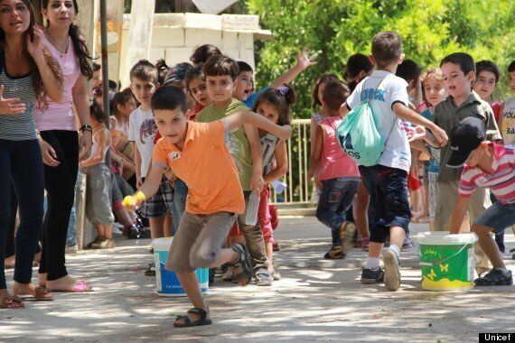 Helping Syrian Children Displaced By Conflict Return to a Sense of