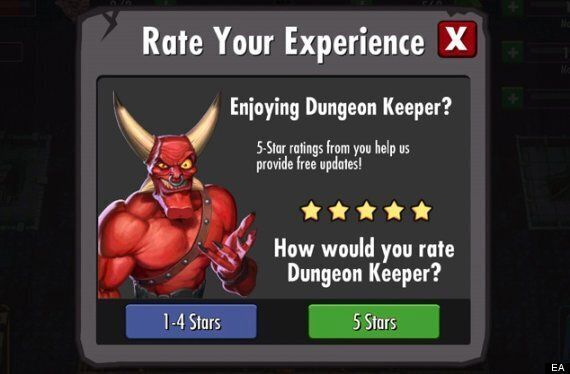 EA 'Dungeon Keeper' Rating System Sneakily Keeps Bad Reviews Of Google Play