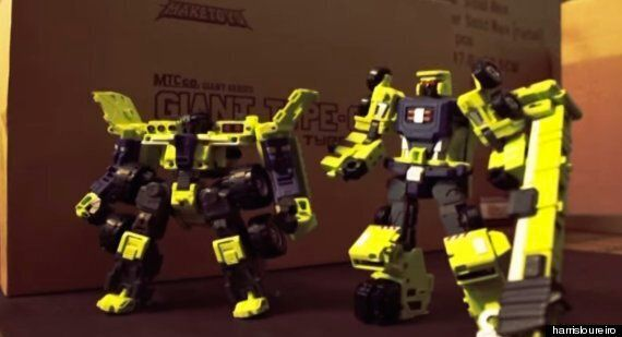 Amazing Stop-Motion Transformers Film Made Using