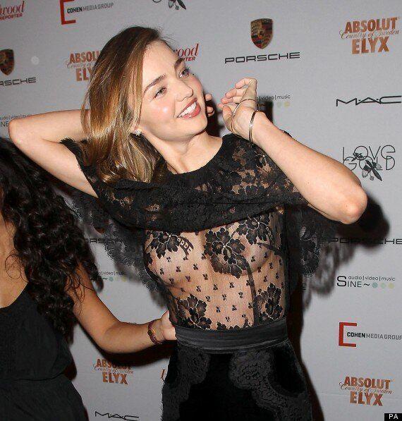 Miranda Kerr Suffers Double Nip Slip At 'Mademoiselle' Premiere In New York (NSFW