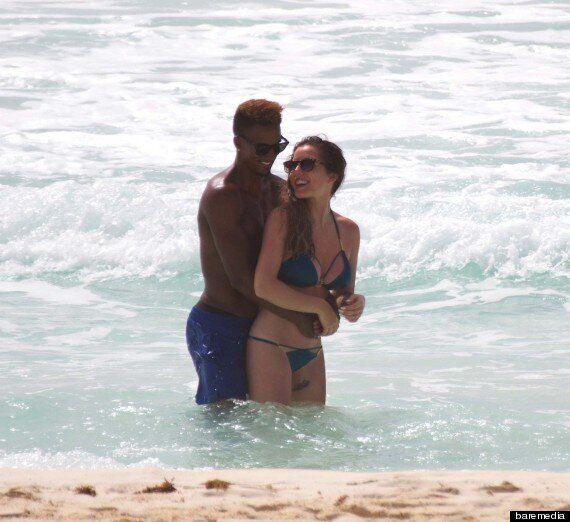 Helen Flanagan Sports Barely-There Bikini During Beach PDA With Boyfriend Scott Sinclair, Who Can't Keep...