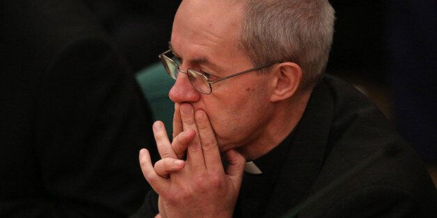 Justin Welby, the Archbishop of Canterbury during the General Synod at Church