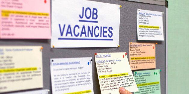 Senior man at job vacancies