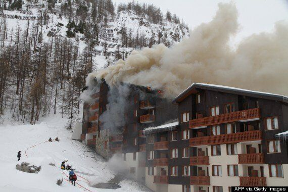 British Woman Louise France Leaps From Window Onto Snow Drift After Fire In Val d'Isere