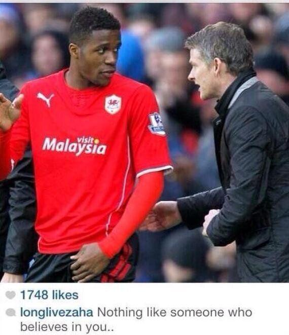 Wilfried Zaha Denies Instagram Dig At David