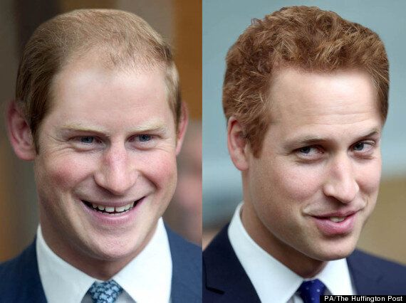 Prince William And Prince Harry Swap Hair Styles