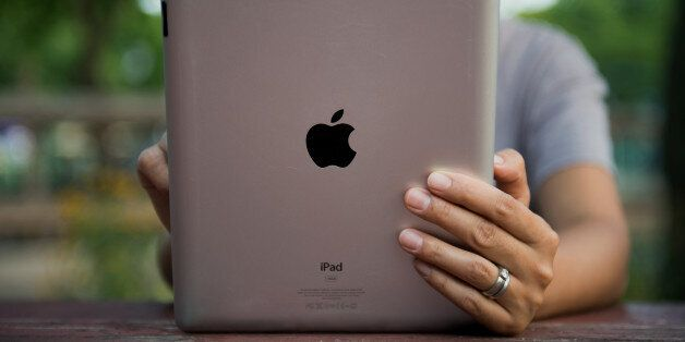 An Apple Inc. iPad is displayed for a photograph in the Brooklyn borough of New York, U.S., on Tuesday,...