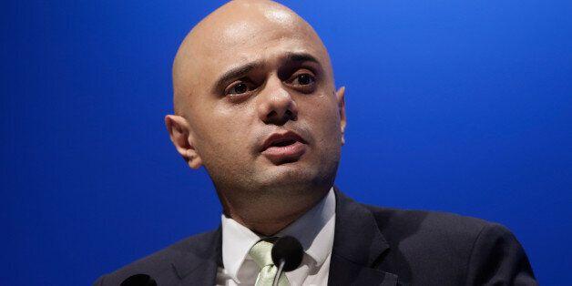 LONDON, ENGLAND - OCTOBER 30: Sajid Javid presents during the Bankers' Panel in Internationalising Islamic...
