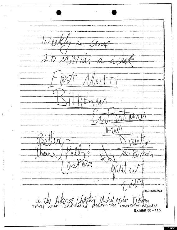 Michael Jackson 'Notes' Reveal Grand Ambitions To Be Bigger Than Gene Kelly And Fred Astaire