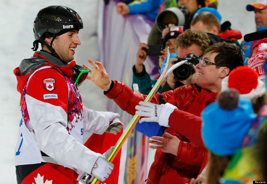 Sochi 2014: Canadian Skier Alex Bilodeau Celebrates Gold With His Disabled Brother Frederic