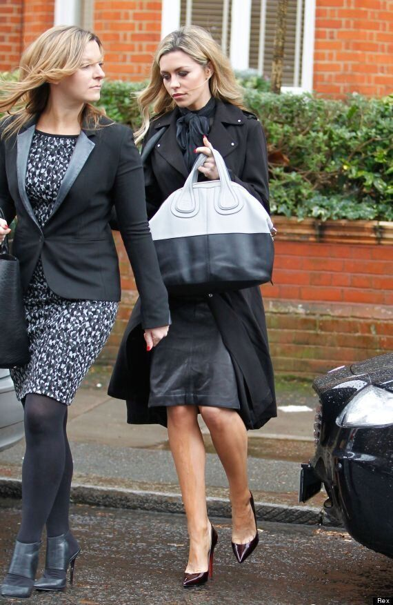 Abbey Clancy Suffers A FTD (Fake Tan Disaster) As She Heads To Ultimo Underwear Launch