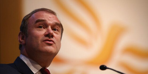 GLASGOW, SCOTLAND - SEPTEMBER 15: Ed Davey MP, Secretary of State for Energy and Climate Change speaks...