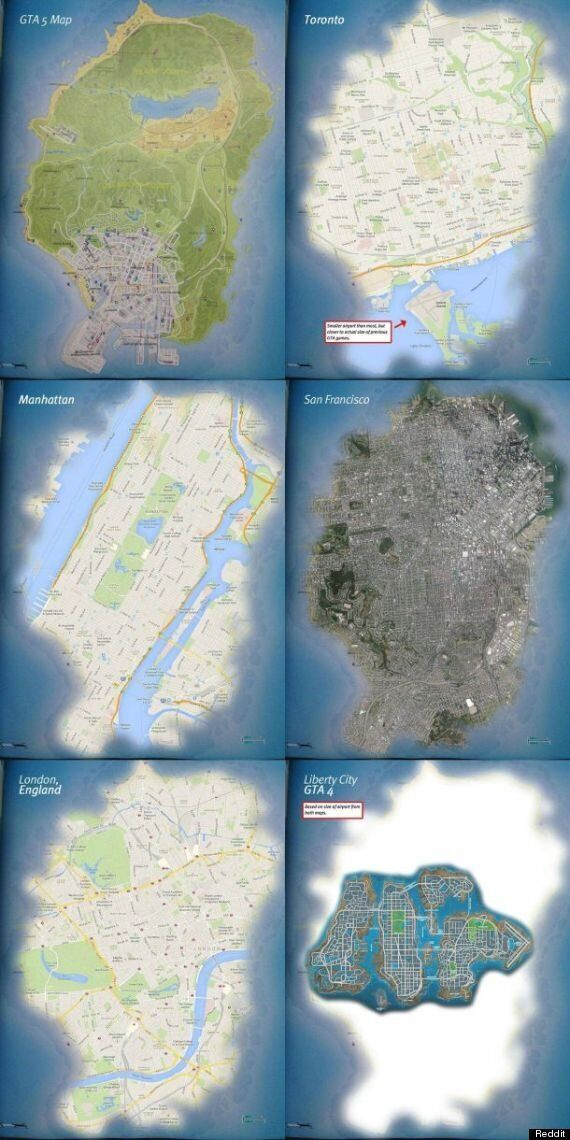 GTA 5: How Big Is Los Santos Compared To Real Cities?