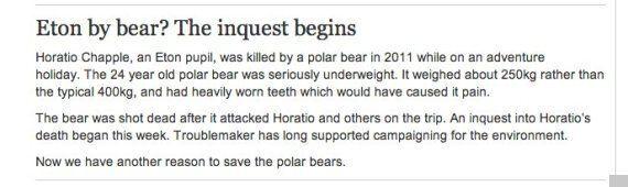 Socialist Worker Rejoices In Death Of Eton Schoolboy Killed By Polar
