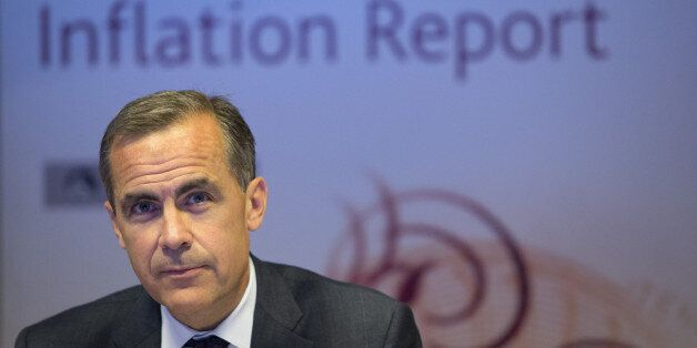 LONDON - AUGUST 7: Mark Carney, governor of the Bank of England, speaks during the bank's quarterly inflation...