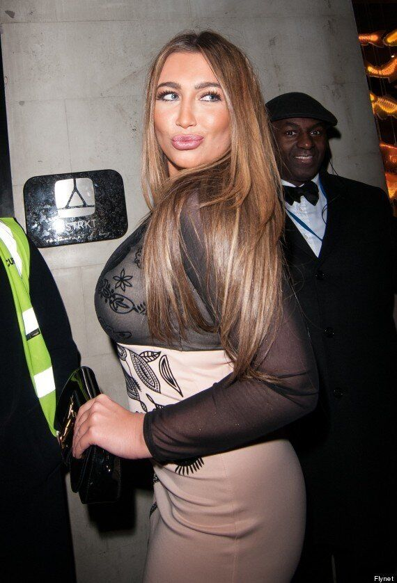Lauren Goodger Shows Off Her New Boobs In Sheer Dress On Night Out In London