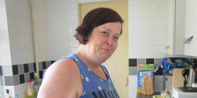 Deirdre Kelly, known as White Dee in the Channel 4 series Benefits Street, at her home in James Turner...