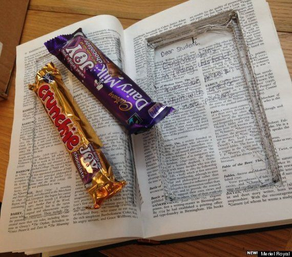 Cambridge University Students Leave Chocolate In A Library Book For Exam