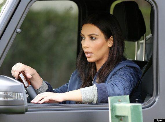 Kim Kardashian Suffers Major Make-Up Fail As She Arrives At Her Sister Khloe's LA Home