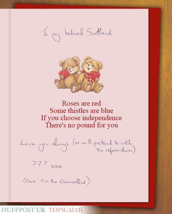 Scotland Gets A Valentine's Day Card From George Osborne
