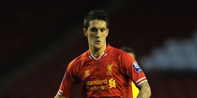LIVERPOOL, ENGLAND - SEPTEMBER 17: Luis Alberto of Liverpool U21 in action during the Barclays U21s Premier...