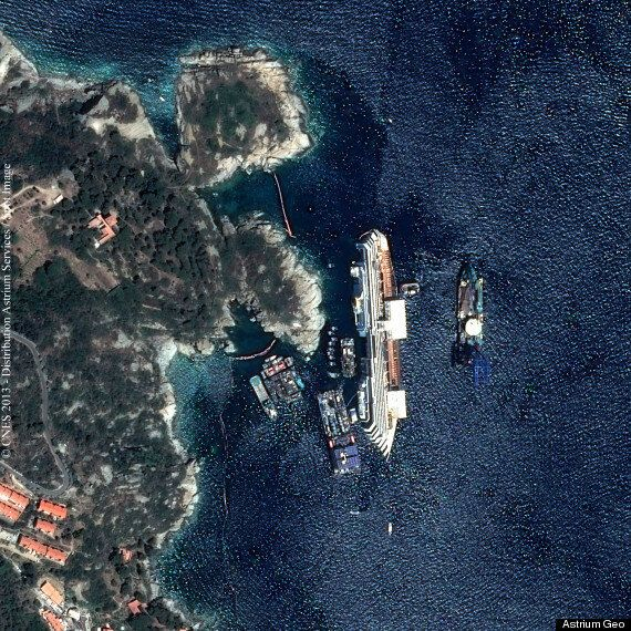 The Costa Concordia, As Seen From Space