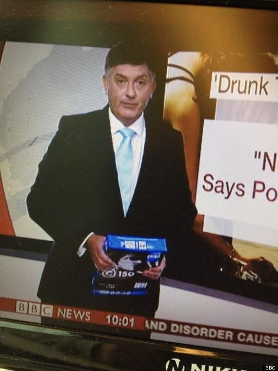 Simon McCoy, BBC News Presenter, Mistakes Pack Of Photocopier Paper For iPad Live On Air