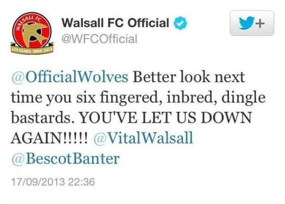 Walsall Apologise For Tweet Labelling Wolves