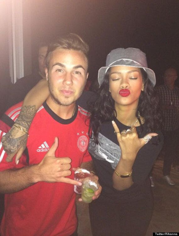 Rihanna Celebrates Germany's World Cup Win Over Argentina By Posing For Pics With Mario Götze And Flashing...
