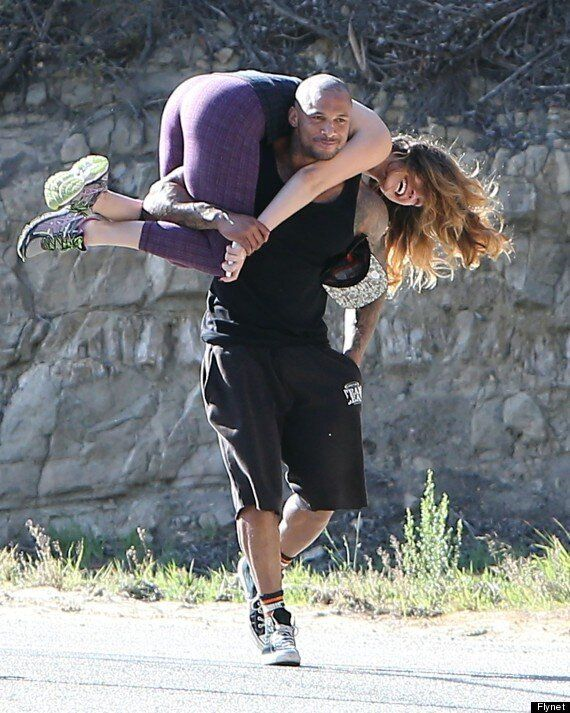 Kelly Brook Gets Carried Away (Literally) After Major PDA With Boyfriend David McIntosh During Hike In...