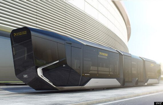 Russia's New Tram Looks Like A Science-Fiction