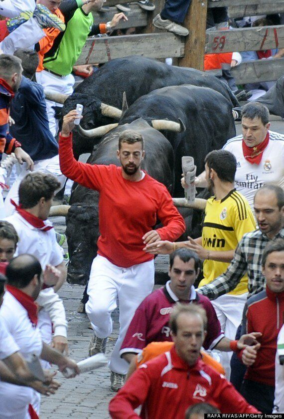 Pamplona Bull Run Selfie Man Faces Hefty Fine For His Little