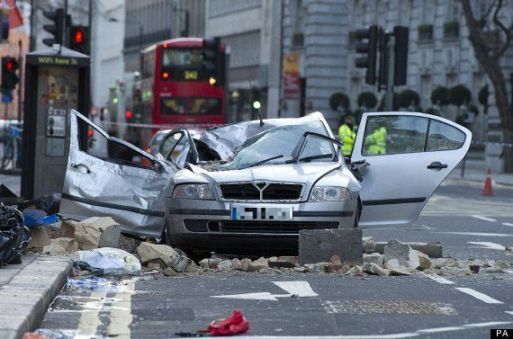 Woman Killed After Building Collapses Onto Car In Holborn, Central