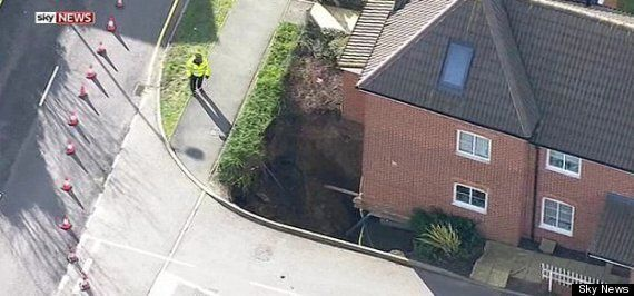 UK Weather: Homes Evacuated As Yet Another Giant Sinkhole Appears, This Time In Hemel Hempstead