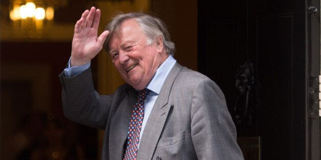 Minister without Portfolio Ken Clarke arrives at 10 Downing Street in London as David Cameron is putting...