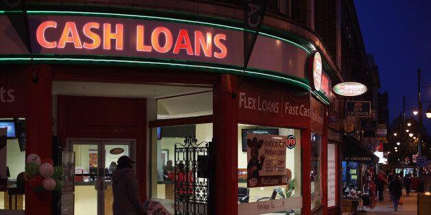 LONDON, ENGLAND - NOVEMBER 01: A general view of a 'Speedy Cash' cash loans shop on Brixton High Street...