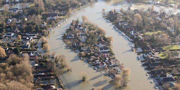 Flooded housing in south