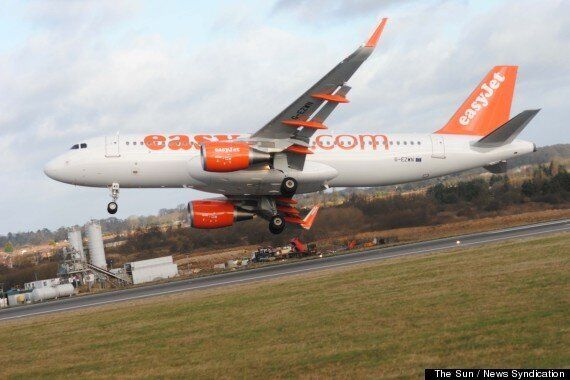 Dramatic Pictures Capture EasyJet Plane Hit By Violent Gusts Of
