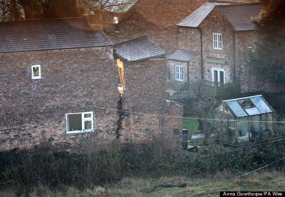 UK Weather: Homes Evacuated After Sinkhole Appears In Ripon, North