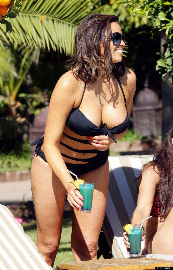 Jessica Wright Shows Off Her Curves In Cutaway Swimsuit In Marrakech