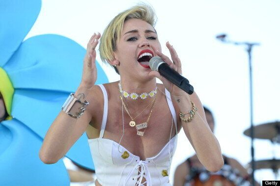 Miley Cyrus Cries During 'Wrecking Ball' Performance At iHeartRadio Music Festival