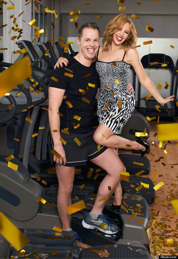 Kylie Minogue Gives Superfan #PricelessSurprises As She Performs New Single 'Into The Blue' At The Gym...