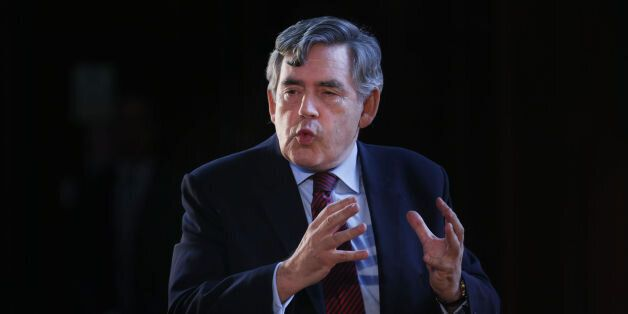 Labour MP Gordon Brown addresses a United With Labour event at The Pearce Institute in Glasgow, Scotland....