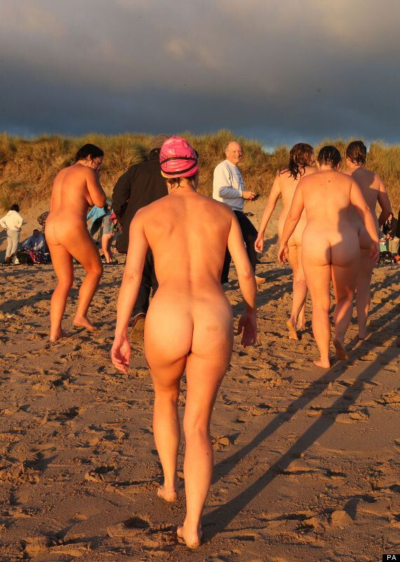 North East Skinny Dip: Naked Masses Take The Plunge In Northumberland's Druridge Bay