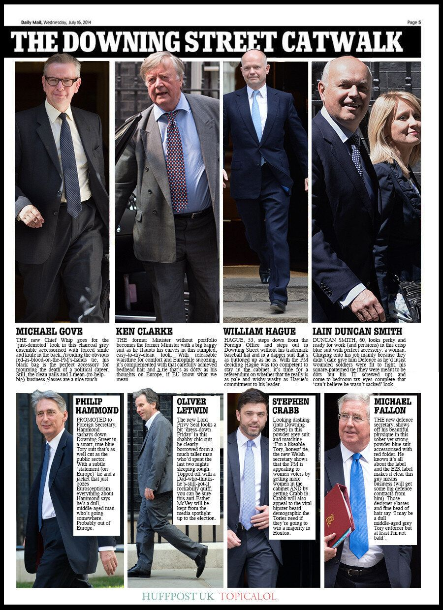 The Daily Mail's Sexist Cabinet Reshuffle Spread: We Redress The