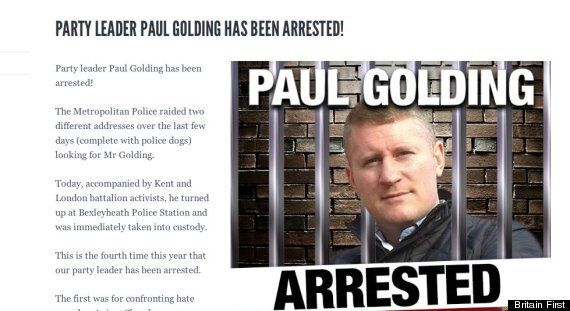 Britain First Fail Dismally In Attempt To Get Leader Arrested, Say He's Been Arrested